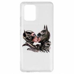 Чехол для Samsung S10 Lite Batman and Catwoman Kiss