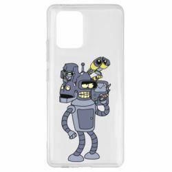 Чехол для Samsung S10 Lite Bender and the heads of robots