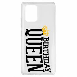 Чехол для Samsung S10 Lite Birthday queen and crown yellow