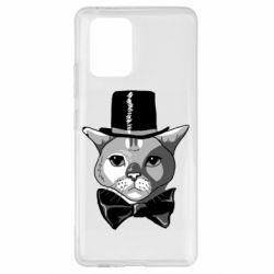 Чохол для Samsung S10 Black and white cat intellectual