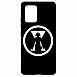Чохол для Samsung S10 Black Widow logo