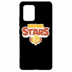Чехол для Samsung S10 Lite Brawl Stars logo orang and yellow
