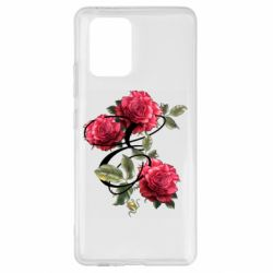 Чехол для Samsung S10 Lite Буква Е с розами