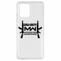 Чехол для Samsung S10 Lite Call of debt MW logo and Kalashnikov