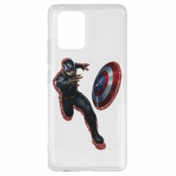 Чехол для Samsung S10 Lite Captain america with red shadow