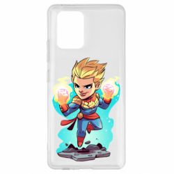 Чехол для Samsung S10 Lite Captain marvel hovers in the air