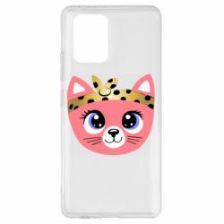 Чехол для Samsung S10 Lite Cat pink
