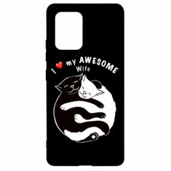 Чехол для Samsung S10 Lite Cats with a smile