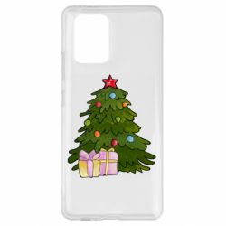 Чехол для Samsung S10 Lite Christmas tree and gifts art
