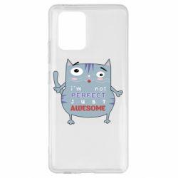 Чехол для Samsung S10 Lite Cute cat and text