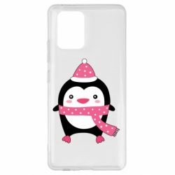 Чехол для Samsung S10 Lite Cute Christmas penguin