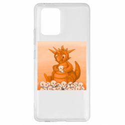 Чохол для Samsung S10 Cute dragon with skulls