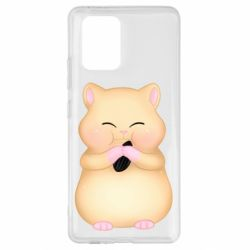 Чохол для Samsung S10 Cute hamster with sunflower seed