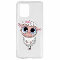 Чехол для Samsung S10 Lite Cute lamb with big eyes