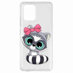 Чехол для Samsung S10 Lite Cute raccoon