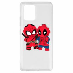 Чехол для Samsung S10 Lite Дэдпул и Человек паук