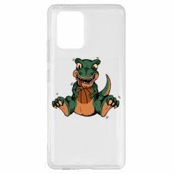 Чехол для Samsung S10 Lite Dinosaur and basketball