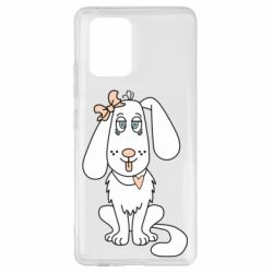 Чехол для Samsung S10 Lite Dog with a bow