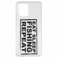 Чохол для Samsung S10 Eat, sleep, fishing