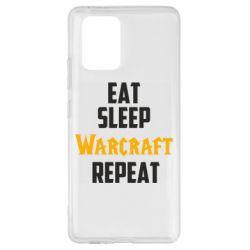 Чехол для Samsung S10 Lite Eat sleep Warcraft repeat