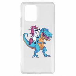 Чохол для Samsung S10 Єдиноріг і динозавр