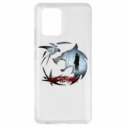 Чехол для Samsung S10 Lite Emblem wolf and text The Witcher