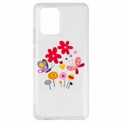 Чехол для Samsung S10 Lite Flowers and Butterflies