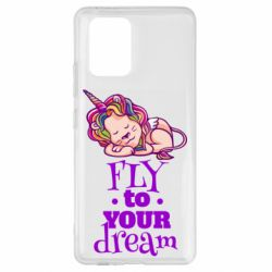 Чохол для Samsung S10 Fly to your dream and lion
