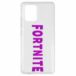 Чехол для Samsung S10 Lite Fortnite purple logo text