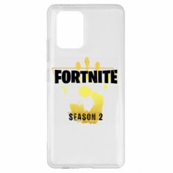 Чехол для Samsung S10 Lite Fortnite season 2 gold