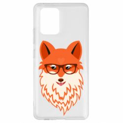 Чехол для Samsung S10 Lite Fox with a mole in the form of a heart
