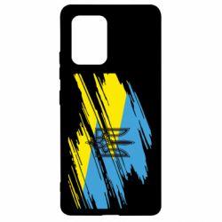 Чехол для Samsung S10 Lite Герб на рваному прапорі