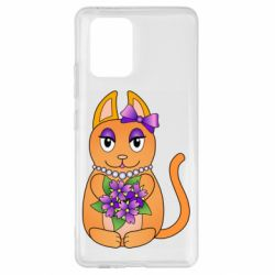 Чехол для Samsung S10 Lite Girl cat with flowers