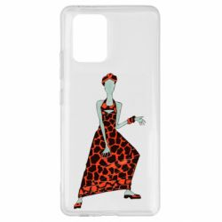 Чехол для Samsung S10 Lite Girl in a dress without a face