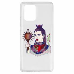Чехол для Samsung S10 Lite Girl with a crown and a flower on a beard
