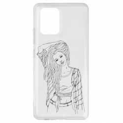 Чехол для Samsung S10 Lite Girl with dreadlocks