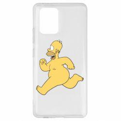 Чехол для Samsung S10 Lite Голый Гомер Симпсон