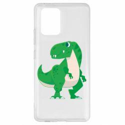 Чохол для Samsung S10 Green little dinosaur