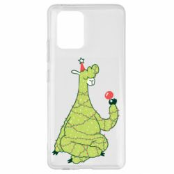 Чехол для Samsung S10 Lite Green llama with a garland