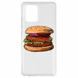 Чехол для Samsung S10 Lite Hamburger hand drawn vector