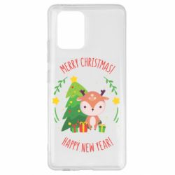 Чехол для Samsung S10 Lite Happy new year and deer