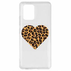 Чехол для Samsung S10 Lite Heart with leopard hair