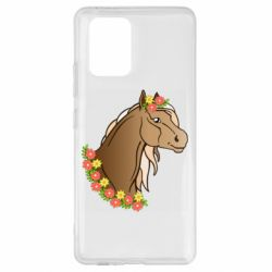 Чехол для Samsung S10 Lite Horse and flowers art