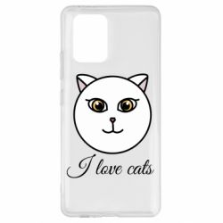 Чохол для Samsung S10 I love cats art