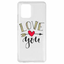 Чохол для Samsung S10 I love you and heart