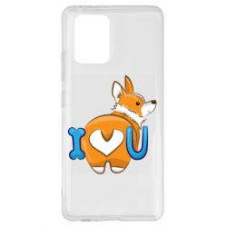 Чехол для Samsung S10 Lite I love you corgi