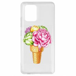 Чохол для Samsung S10 Ice cream flowers