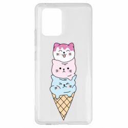 Чехол для Samsung S10 Lite Ice cream kittens
