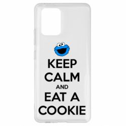 Чехол для Samsung S10 Lite Keep Calm and Eat a cookie