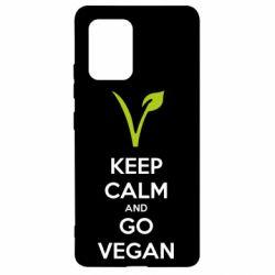 Чехол для Samsung S10 Lite Keep calm and go vegan